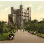 rochester_castle_vintage_zdjecie_kolorowe_historia_XIX_wiek