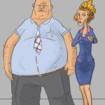 Adela i Donald Gibble_rys. Grzegorz Nita