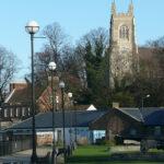 Popularne miejsce spacerowe nad rzeka Medway