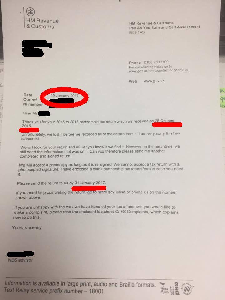 Dokument z HMRC. Zakryliśmy wrażliwe dane